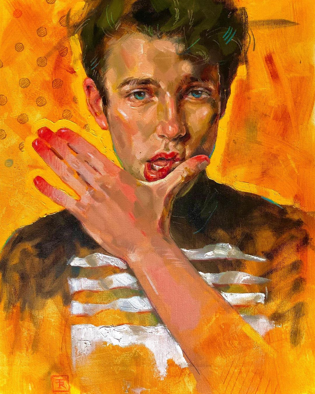 resistance-portrait-tania-rivilis-painting-orange